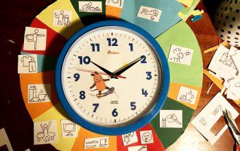 Corona mit kleinen Kindern geht dir auf'n Zeiger? Stundenplan mit Zeigeruhr bauen!