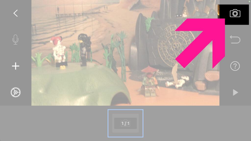 Bedienung der Stop Motion Studio App